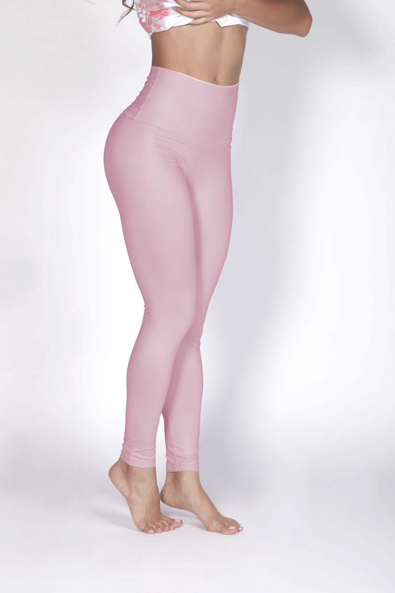 ed7f6fdb298c78 High Waisted Pink Pilates leggings | Leggings Shop UAE | Gulfissimo