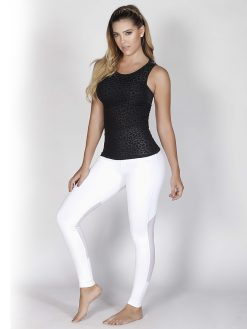 High Waist White Gym Leggings