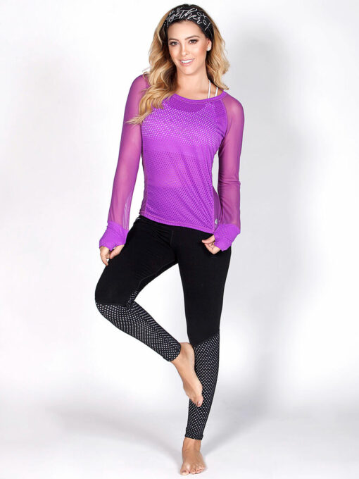 Purple Mesh Long Sleeve