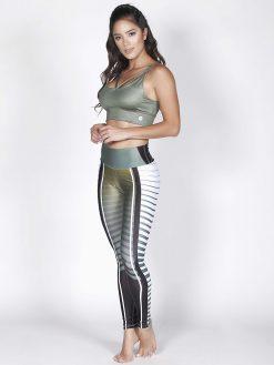 Printed Mid Waisted Fitness Leggings