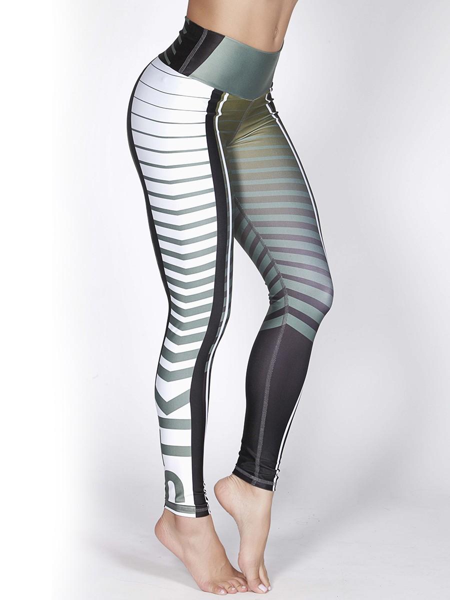 printed high waisted fitness leggings online shop uae gulfissimo. Black Bedroom Furniture Sets. Home Design Ideas