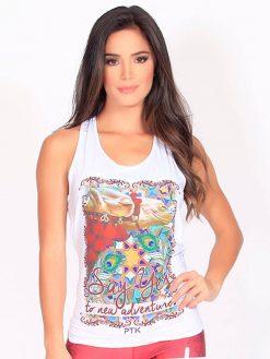 White Gym Trendy T-shirt