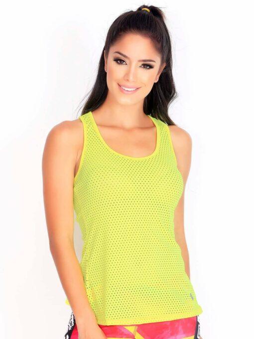 Yellow Fitness Trendy Mesh