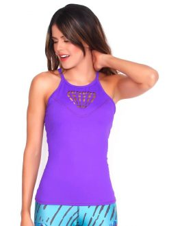 Purple Gym Tank Top
