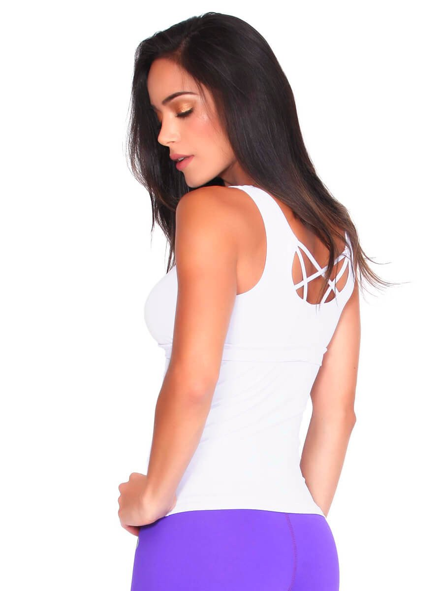 edfa8c9133c72 White Fitness Tank Top | Sportswear Online Shop Dubai | Gulfissimo