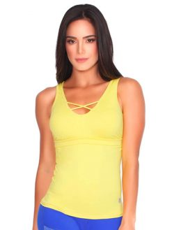 Yellow Fitness Tank Top
