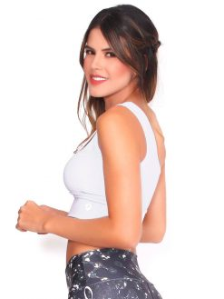 White Sport Trendy Bra Top