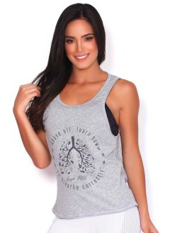 Grey Yoga T-shirt