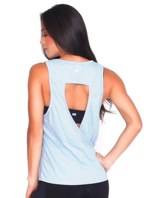Baby Blue Yoga T-shirt