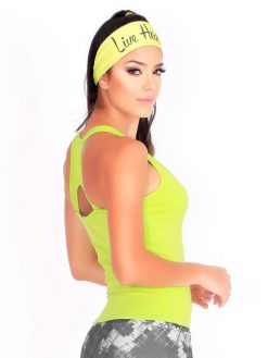 Lemon Green Active Tank Top