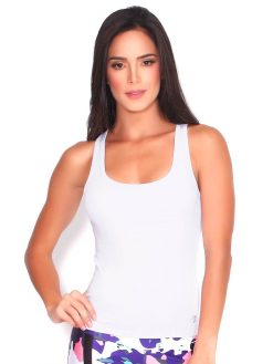 White Active Tank Top