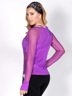 Purple Mesh Long Sleeve