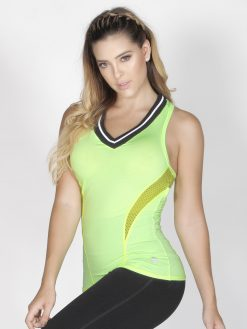 Lemon Green Sport Tank Top