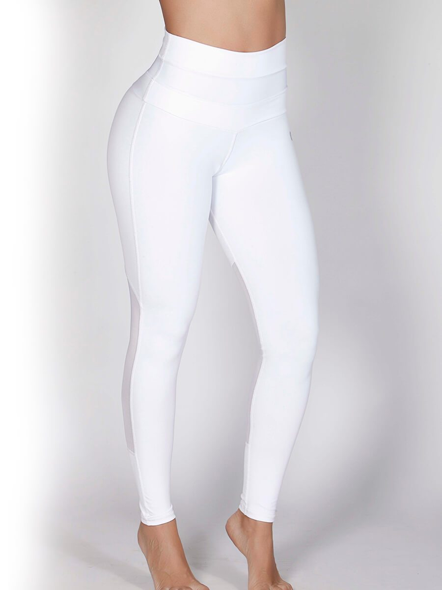 22cc96b9c7d0c White High Waisted Leggings | Workout Leggings Dubai | UAE | Gulfissimo