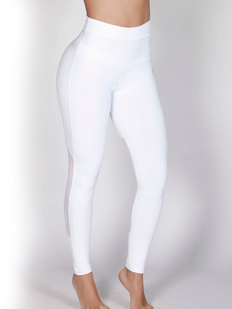 45b9b49bad442 White High Waisted Leggings | Workout Leggings Dubai | UAE | Gulfissimo