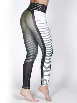 Printed Mid Waisted Fitness Leggings