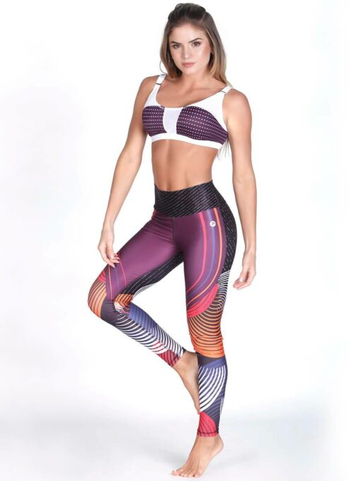 Wine Fitness Bra Top