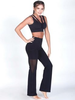 Black Fitness Bra Top