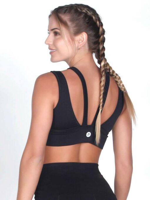 Black Fitness Bra Top