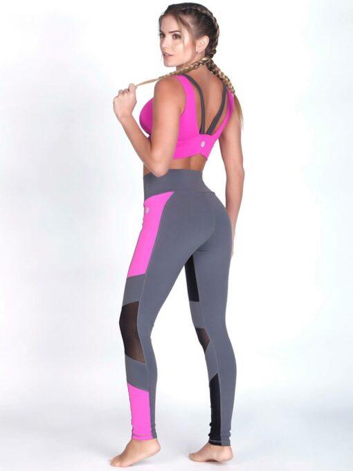 Fuchsia Fitness Bra Top