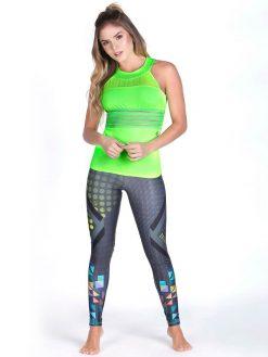 Neon Green Fitness Tank Top