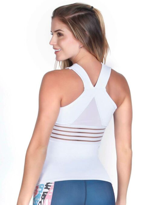White Fitness Tank Top
