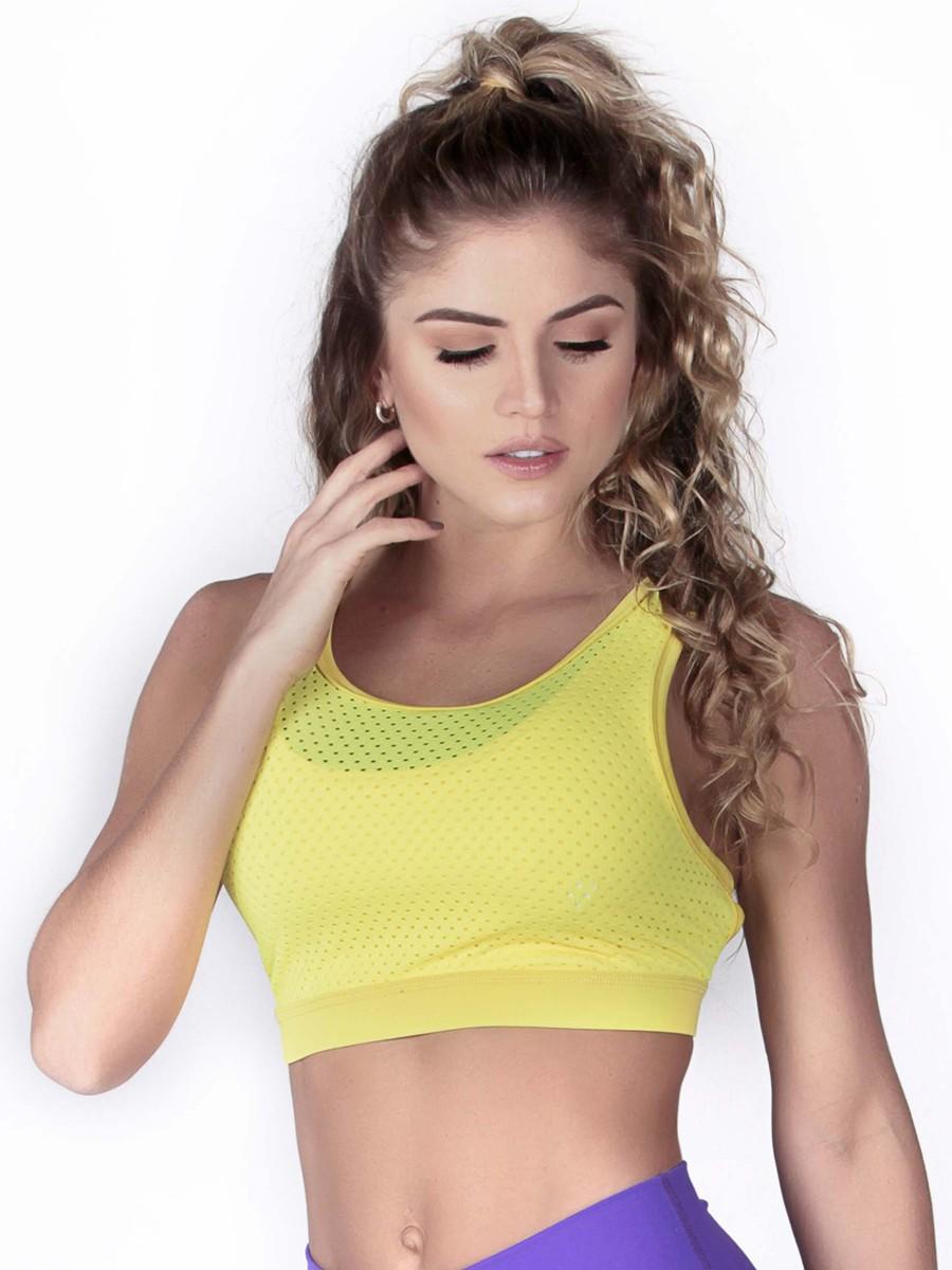 6dfa756267 Yellow Sports Bra Top
