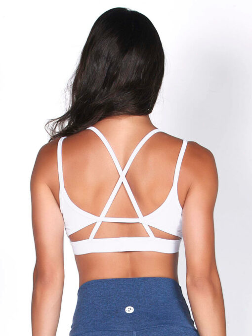 White Sport Bra Top